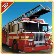 消防救援卡车模拟器-驱动消防队员卡车和扑灭大火