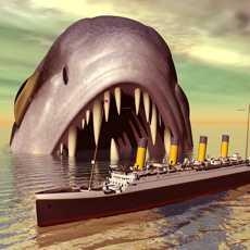 巨型鲨鱼直升机风暴-一个致命的深海白鲨猎人