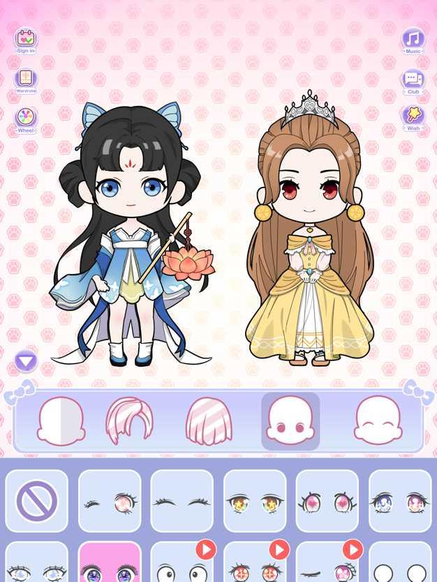 公主的二次元故事-美少女生换装扮养成小游戏截图欣赏