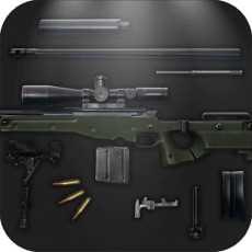 AWP狙击步枪:CS经典狙击步枪武器模拟器之枪械拆解与拼装4399生死狙击游戏刺客杀手狙击手射击僵尸
