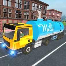 市牛奶供应卡车3D