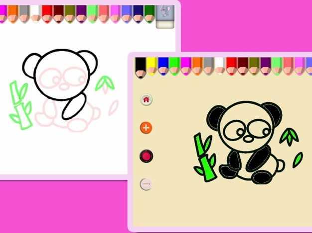 神奇的描红绘画和涂色画板儿-有童趣的益智涂鸦游戏截图欣赏