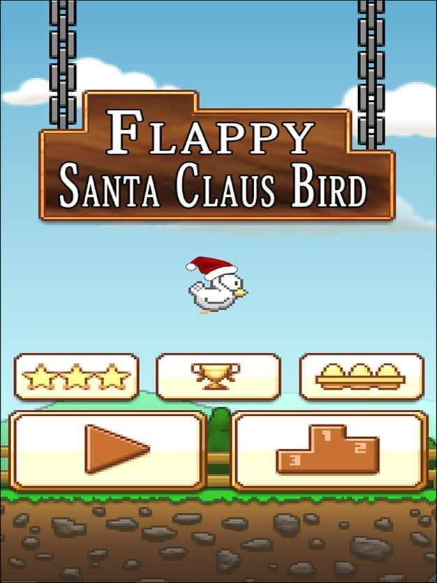 飞扬圣诞老人鸟-FlappySantaClausBird-不可能圣诞飞行冒险!截图欣赏