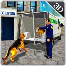 警犬运输卡车和小型货车的车程