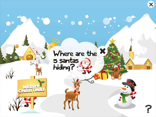 2-5岁儿童关于圣诞节:幼儿园,学前班或幼儿园,圣诞老人,雪人,精灵,天使,驯鹿鲁道夫,和雪的游戏和截图欣赏
