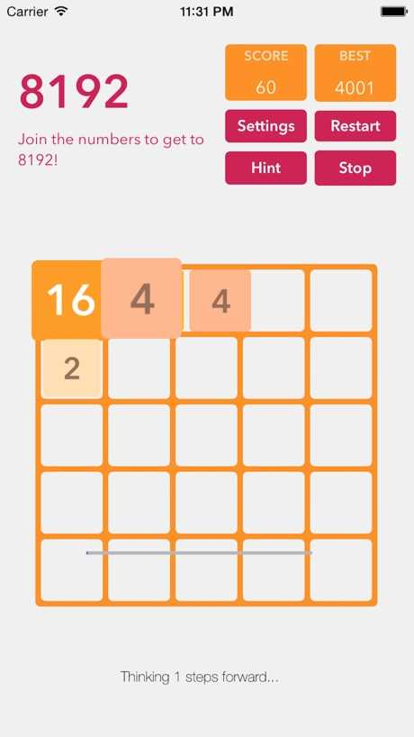 2048加+-策略号益智游戏临截图欣赏