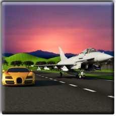 喷气飞机Vs的赛车3D