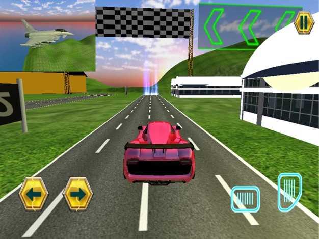 喷气飞机Vs的赛车3D截图欣赏
