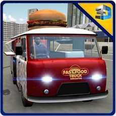 快餐车模拟器-半食货车驾驶和停车位的模拟游戏