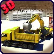 挖掘机模拟器3D-驾驶重型工程起重机真正的停车场模拟游戏