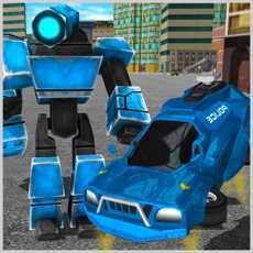 未来派机器人警察-飞行汽车模拟器3D