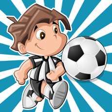 活跃的儿童游戏2-5岁关于足球:游戏和拼图的幼儿园,学前班或幼儿园与足球运动员。了解世界杯于2014