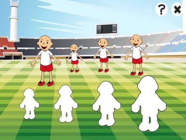 活跃的儿童游戏2-5岁关于足球:游戏和拼图的幼儿园,学前班或幼儿园与足球运动员。了解世界杯于2014截图欣赏
