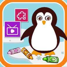 小企鹅绘画和拼图游戏大全123