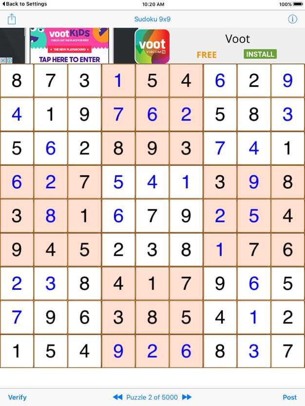 Sudoku9x9Game截图欣赏
