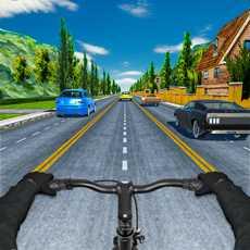 疯狂的交通自行车骑手